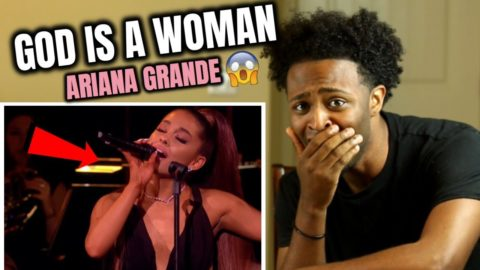 Ariana Grande - God is a Woman (ALMOST BROKE MY ARM😰) Live at the BBC