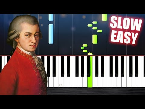 Mozart - Turkish March - SLOW EASY Piano Tutorial by PlutaX