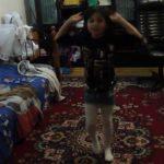 Nicole dancing to an uzbek song