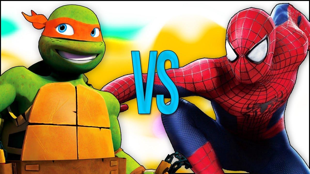 ЧЕЛОВЕК ПАУК МСТИТЕЛИ VS ЧЕРЕПАШКИ НИНДЗЯ | СУПЕР РЭП БИТВА | Spiderman full movie VS Ninja Turtles