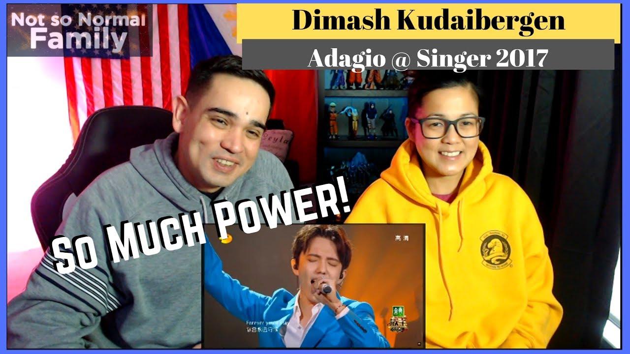 DIMASH KUDAIBERGEN Adagio on Singer 2017 Filipino American Reaction