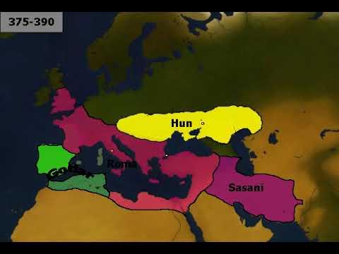 Alternatif Avrupa Hunları Harita Üzerinde Anlatım
