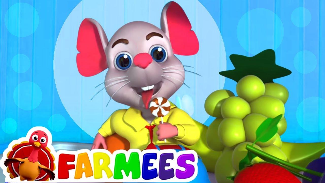 крыса под столом | детские песни | потешки | Farmees Russia | развивающий мультфильм